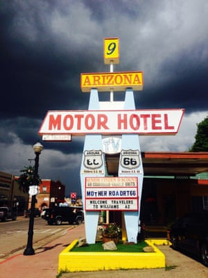 Old Route 66One of the oldest routes in USA, Route 66 Photograph: Alessandra Distefano/GuardianWitness