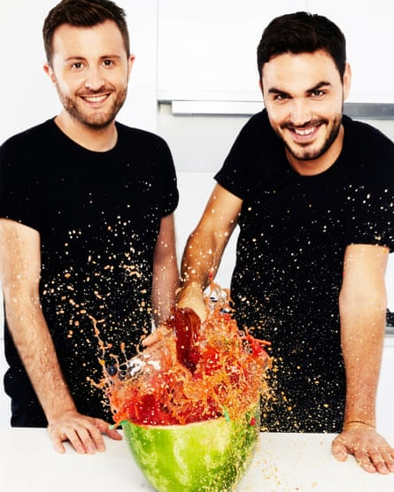 Henry Firth and Ian Theasby, co-founders of vegan food channel Bosh!