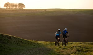 Mountain Bikers, The Ridgeway, Wiltshire