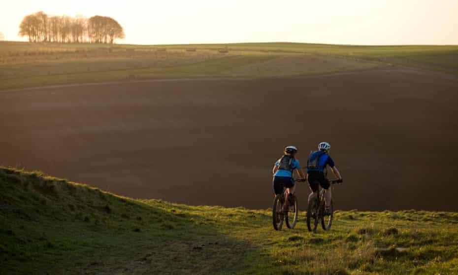 Mountain Bikers, The Ridgeway, Wiltshire