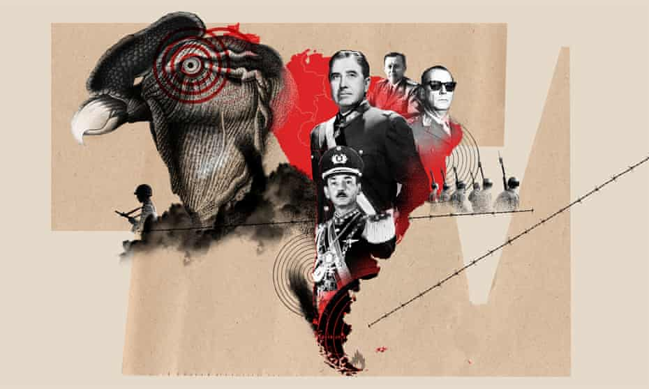 collage type illustration for long read about Operation Condor