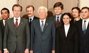 Chernenko (centre) in 1984.