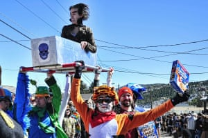 More coffin race contenders at the Frozen Dead Guy Festival, Colorado