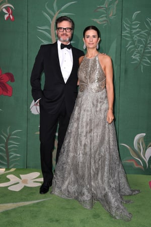 Colin and Livia Firth, who wore Armani Prive from 2004. Livia is the founder of Eco-Age, which organised the event alongside the National Chamber of Italian Fashion.