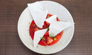 'Slivers of meringue': strawberries and cream.