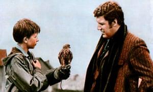 David Bradley, left, as Billy Casper with Colin Welland in the film Kes.