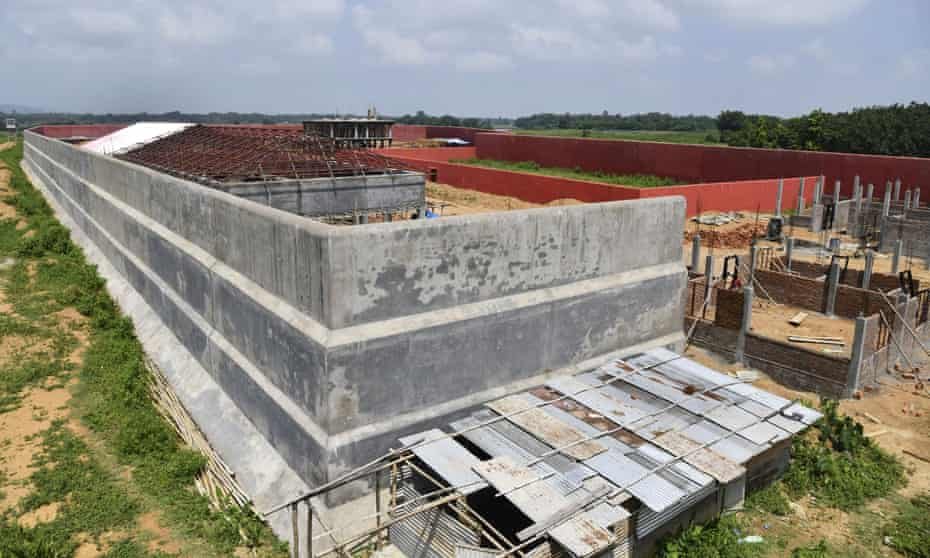 A detention centre under construction in Assam, India.