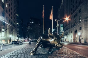 Charging Bull in the Financial District