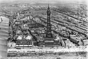 Blackpool Tower and the Winter Gardens, 1920