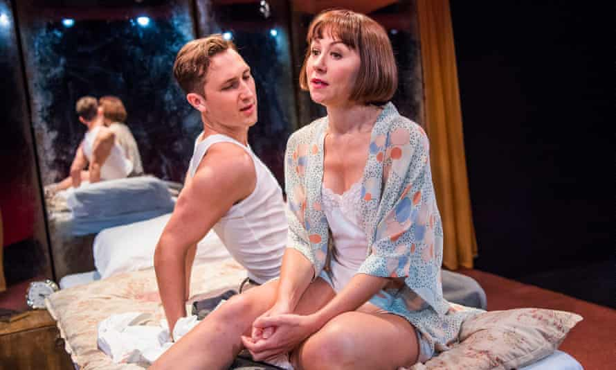 Honest explorations … Ben Lloyd-Hughes and Claire Lams in Kiss Me by Richard Bean.