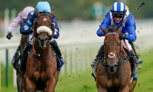 Jim Crowley on Battaash (right) wins the Nunthorpe Stakes at York on Friday.