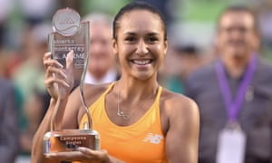 Heather Watson said after beating Kirsten Flipkens: 'It's the first time my mum's seen me win a title and it's Mother's Day back in England, so Happy Mother's Day, Mum.'