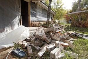 Earthquake damage in Sparks, Oklahoma