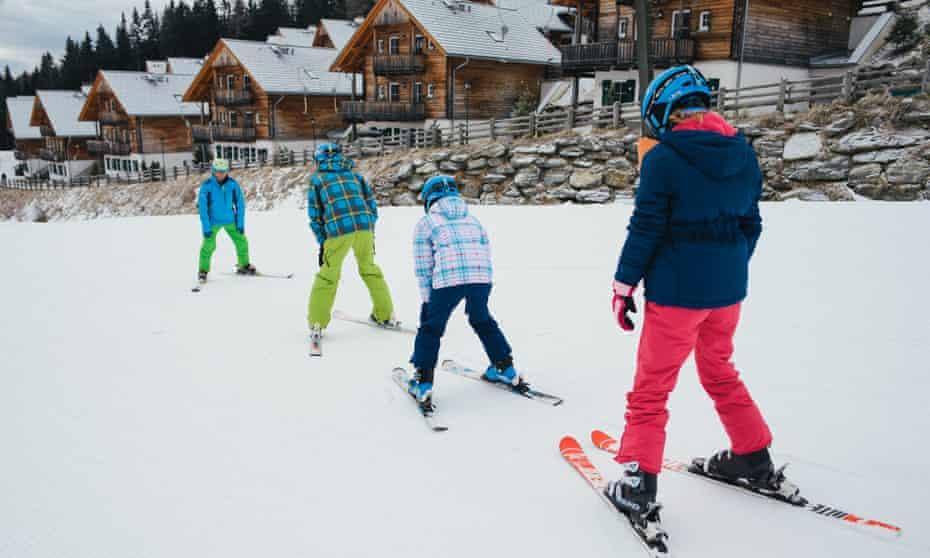 Learning to ski in Katschberg.