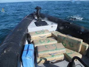 Boxes of hashish on a smuggling boat