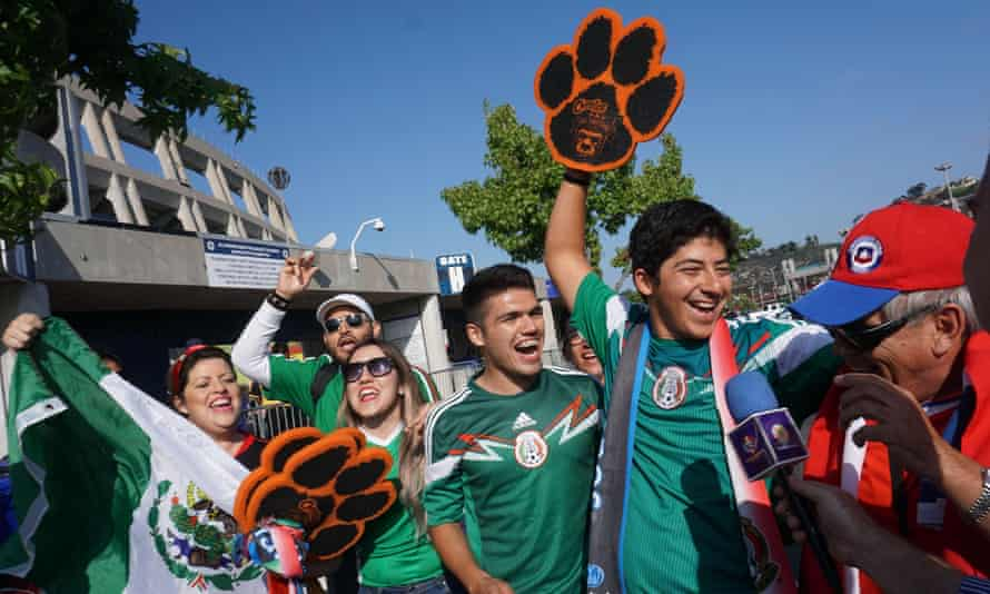 Mexico fans before last week's friendly with Chile in San Diego.