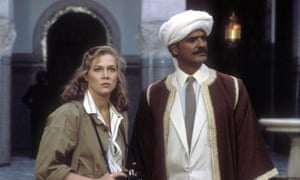 Kathleen Turner and Spiros Focas in The Jewel of the Nile Year