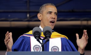 Barack Obama delivers the commencement address to the 2016 graduating class of Howard University.
