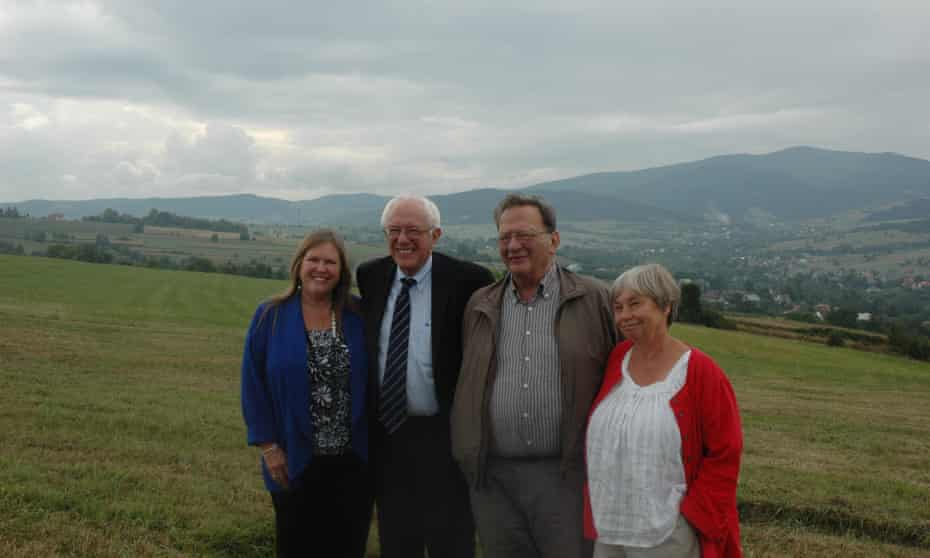 Bernie and Larry Sanders visit the ancestral family home town of Słopnice in Poland, with their wives Jane and Janet, in 2013.