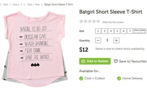 The Batgirl T-shirt for sale on Target Australia's website