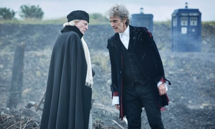 David Bradley and Peter Capaldi in this year's Doctor Who Christmas special.