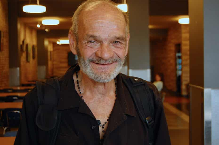 Elmer Fecteau, 66, is currently living at the Old Brewery Mission, a non-profit organisation supporting the homeless in Montreal.
