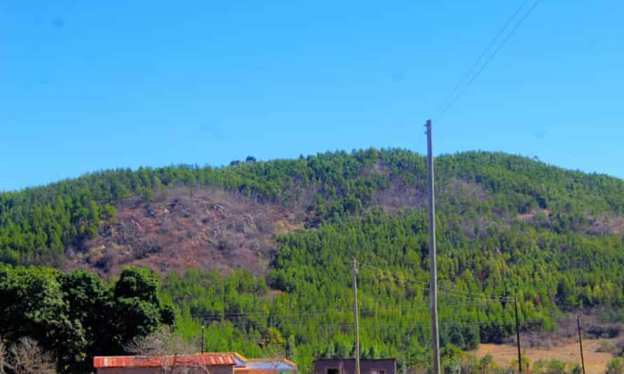 Mountains in Nhlangano village, in the south of Eswatini