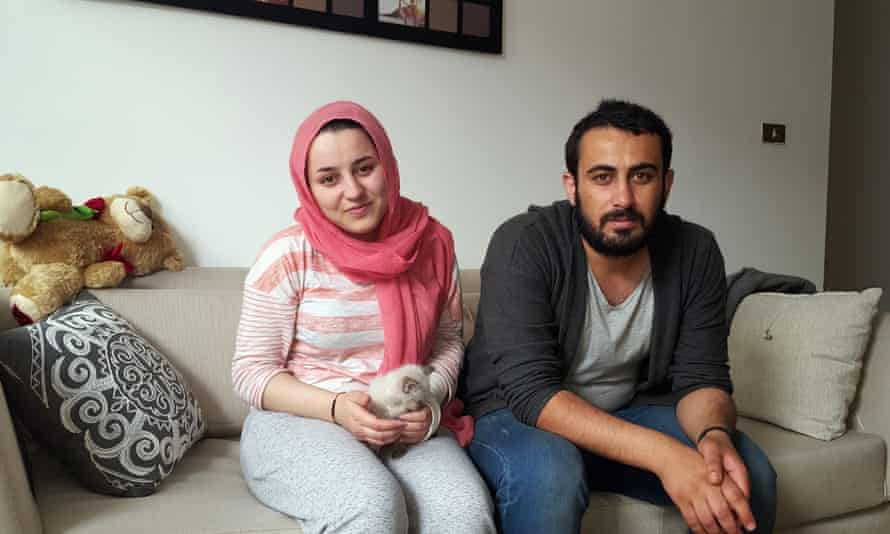 Kurdish Syrians Silva Hassan Namo, 22 and her husband Jack Mohammed, 24, at their new home in Aguascalientes