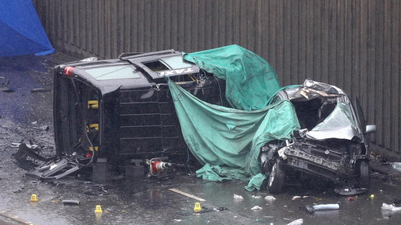 aftermath of deadly multi-car collision in birmingham – video | uk