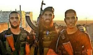British jihadis Mohammed el-Araj and Choukri Ellekhlifi with their Dutch trainer, fighting for Islamic State in Syria, 2013