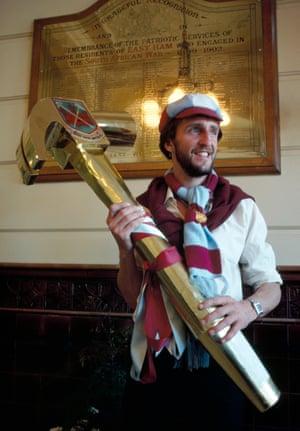 West Ham striker David Cross at East Ham Town Hall.