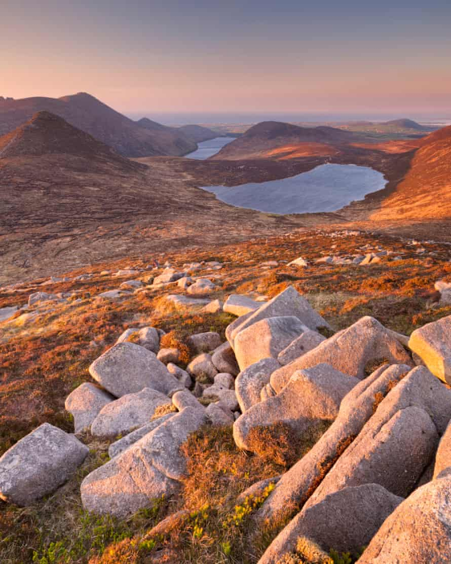 Sunrise over the Mourne Mountains.