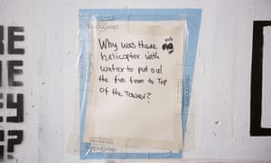 Grenfell question: Why was there no helicopter with water to put out the fire?