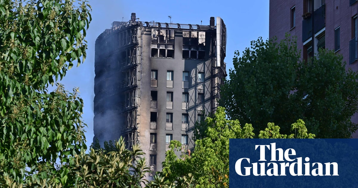Milan mayor likens tower block fire to Grenfell disaster