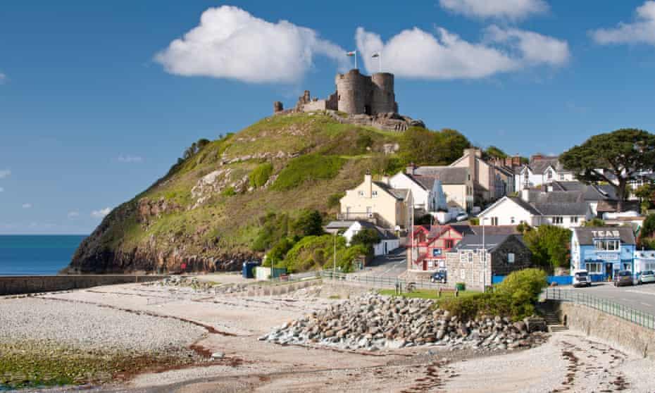 Criccieth Castle above the Town of Criccieth, Gwynedd, North Wales, UK.