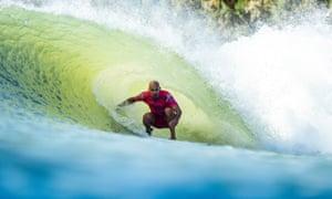 Eleven-time world surf champion Kelly Slater