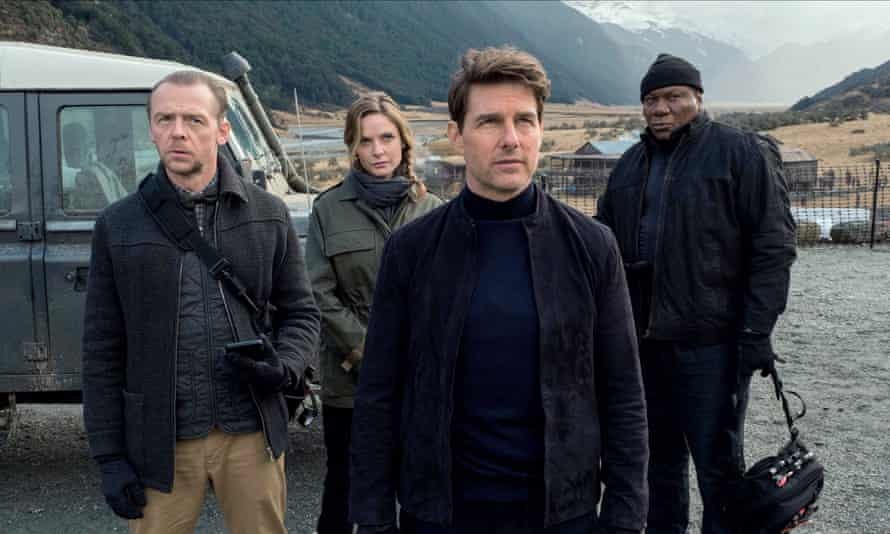 Ferguson with Tom Cruise, Simon Pegg and Ving Rhames in Mission: Impossible – Fallout.