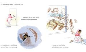 A page from Malala's Magic Pencil by Malala Yousafzai, illustrated by Kerascoët.
