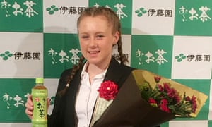 Gracie Starkey at the prize-giving ceremony in Tokyo