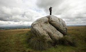 The big stone, the great stone of Fourstones, covered in ancient and modern graffitti, Tatham fells, Lancashire.