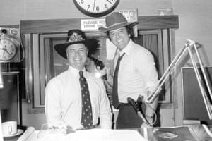 Larry Hagman joins Wogan on his Radio 2 Breakfast Show in 1980