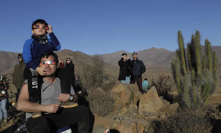 Tens of thousands of people turned out to watch the total solar eclipse in northern Chile.