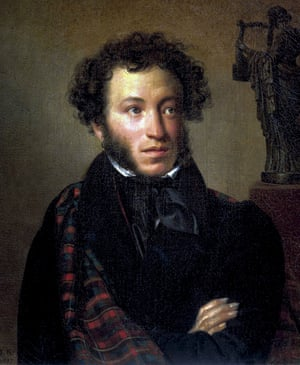 Censored by the tsars … an 1827 painting of Alexander Pushkin.