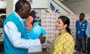 Priti Patel最近访问索马里期间。