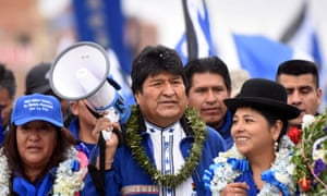 Evo Morales at a campaign rally in El Alto, on the outskirts of La Paz.