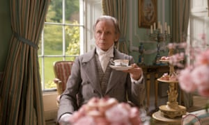 Time for tea: as Mr Woodhouse in Emma. Of the film's director, Autumn de Wilde, he says, 'I'd never met anyone like her, she is very unusual.'
