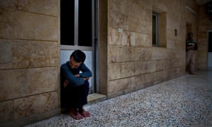 Syrian patients at Dar Al-Ajaza psychiatric hospital in Aleppo, 2012