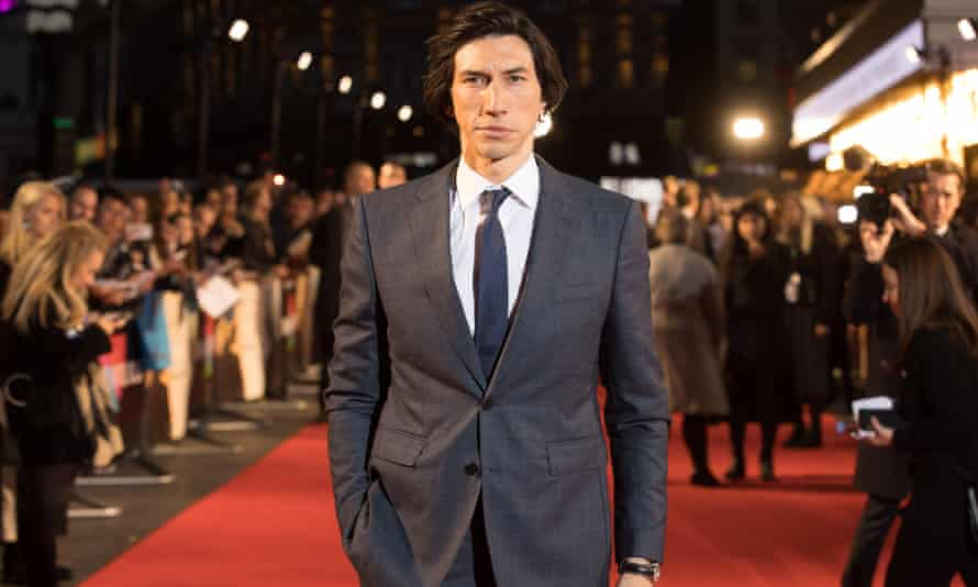 Adam Driver arrives for the Marriage Story premiere at the Odeon, Leicester Square in London.