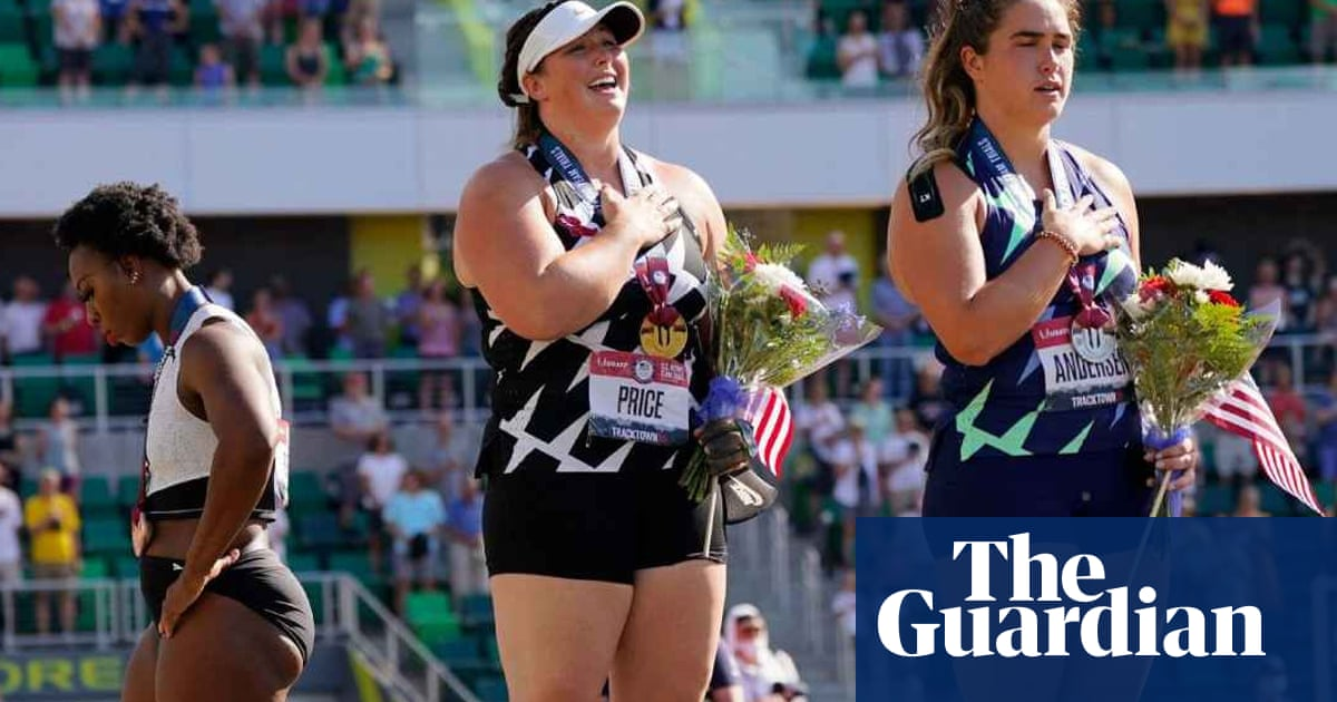 Gwen Berry turns away from anthem at US Olympic trials and says she was 'set up'