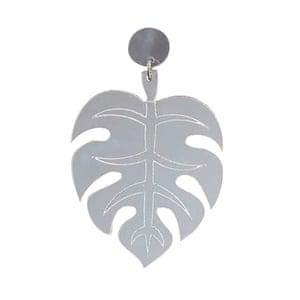 Mirrored leaf earring